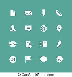 invertire, set, contatti, icona