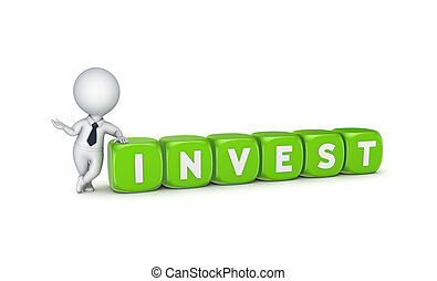 Invest concept. - Investment concept.Isolated on white...