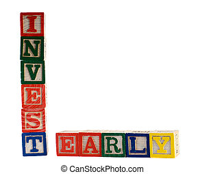 Invest Early - Concept image of early investments, spelled...
