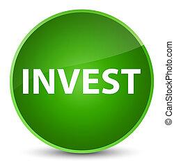 Invest elegant green round button