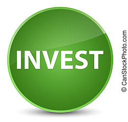 Invest elegant soft green round button