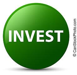 Invest green round button