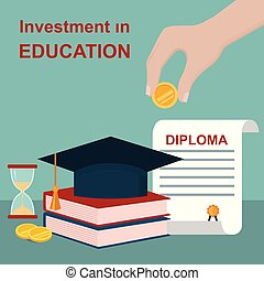 Invest in education concept.