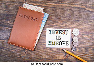 Invest in Europe concept