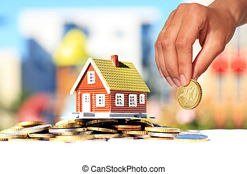 Invest in real estate. House loan concept.