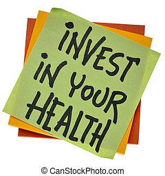 invest in your health advice