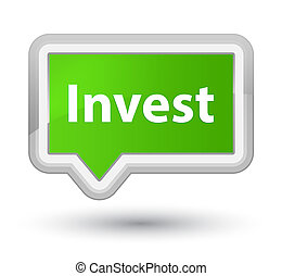 Invest prime soft green banner button