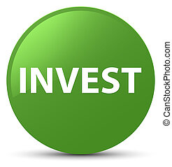 Invest soft green round button