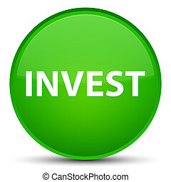 Invest special green round button