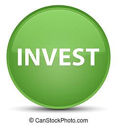 Invest special soft green round button