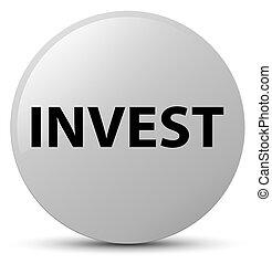 Invest white round button