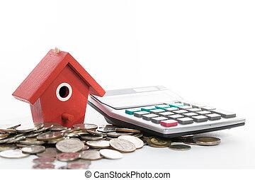 investeren, en, storting, geld, voor, jouw, eigendom