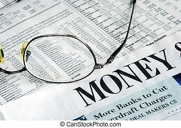 investeren, geld, krant, brandpunt