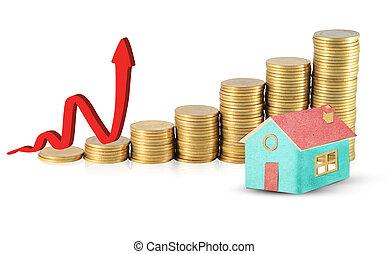 investeren in, vastgoed, concept