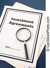 investering, överenskommelse