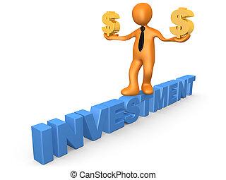 investering, in, dollar