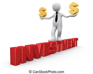 investering, in, dollars