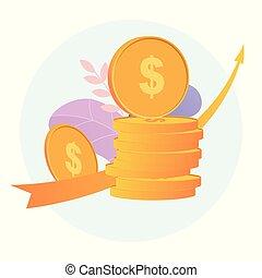 investering, investments., richtingwijzer, groei, pensioen, optredens, zakelijk, financieel concept, savings.