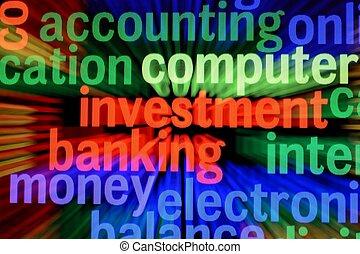 investering, och, bankrörelse, begrepp