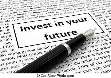 investieren, zukunft, dein