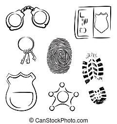 investigação, ícones