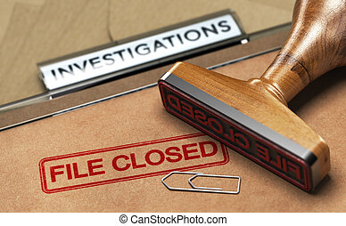 investigação, investigação, abandonado, closed., serviços, arquivo