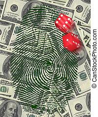 investigação, investimento, gamble, ou