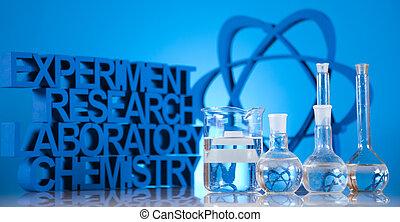 investigación, y, experimentos,