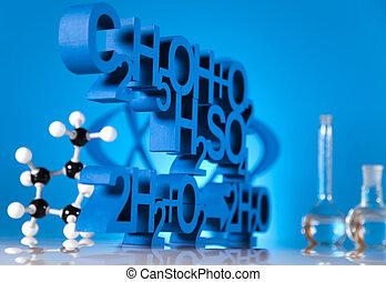 investigación, y, experimentos, química