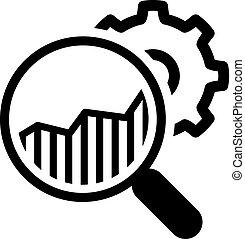 investigaciónde mercado, design., icon., plano