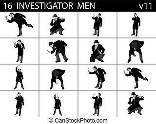 investigar, homens