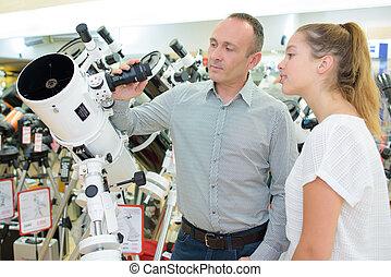 investigar, telescópio