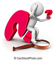 Investigation and new question - 3d character with a...