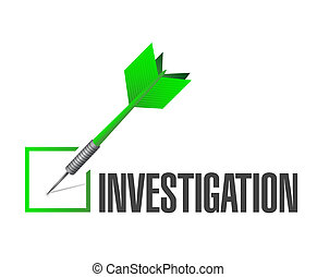 investigation check dart sign concept