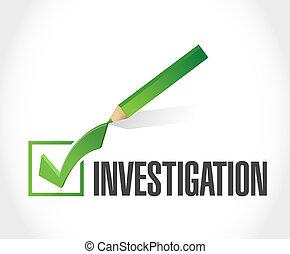 investigation check mark sign concept