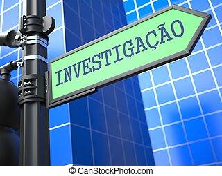 Investigation Concept. (Portuguese)