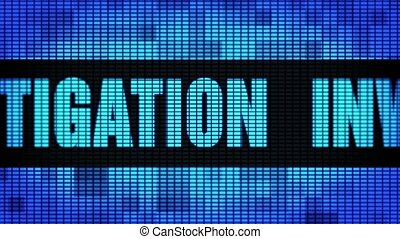 Investigation Front Text Scrolling LED Wall Pannel Display...