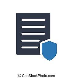 investigation glyph color icon