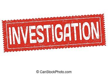 Investigation grunge rubber stamp
