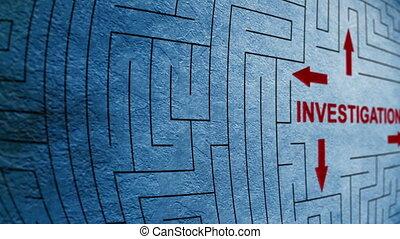 Investigation maze concept