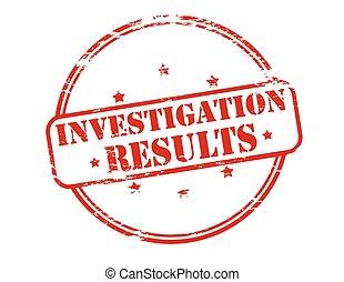 Investigation results