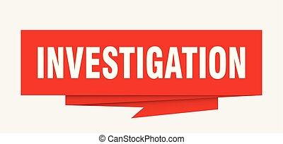 investigation sign. investigation paper origami speech...