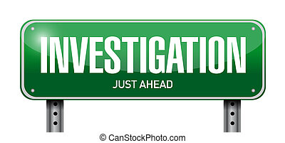 investigation street sign concept illustration