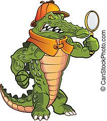 Investigator Gator - Mean Detective Gator in Action