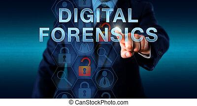 Investigator Pushing DIGITAL FORENSICS - Investigator...