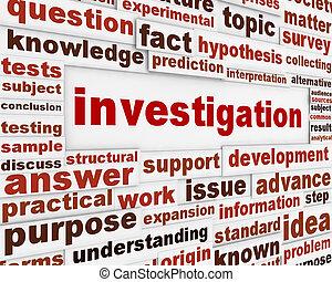investigazione, parole, creativo