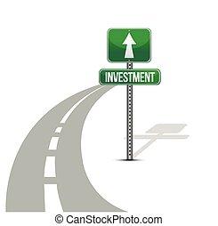 investimento, estrada, melhoria