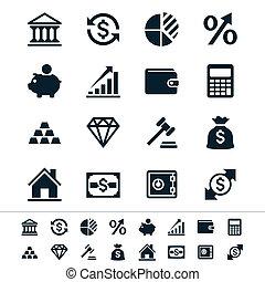 investimento financeiro, ícones