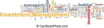 investimento, gerência, fundo, conceito