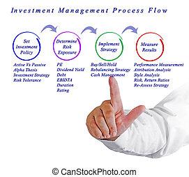 investimento, gerência, processo, fluxo